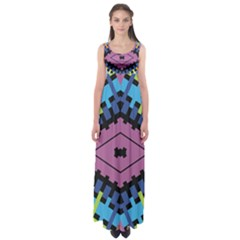 Starette Oleana Purple Blue Yellow Empire Waist Maxi Dress