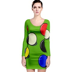 Billiard  Long Sleeve Bodycon Dress