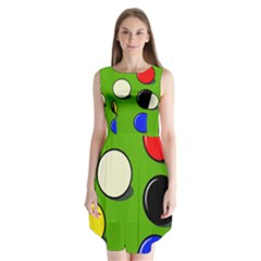 Billiard  Sleeveless Chiffon Dress