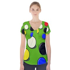 Billiard  Short Sleeve Front Detail Top