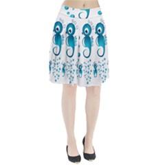 Seahorsesb Pleated Skirt