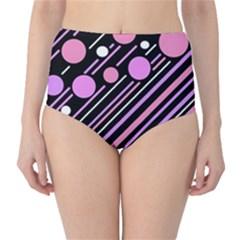 Purple transformation High-Waist Bikini Bottoms