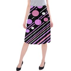 Purple Transformation Midi Beach Skirt
