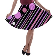 Purple transformation A-line Skater Skirt