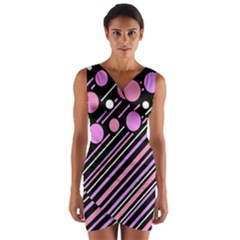 Purple Transformation Wrap Front Bodycon Dress