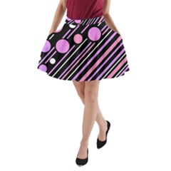 Purple transformation A-Line Pocket Skirt