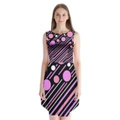 Purple transformation Sleeveless Chiffon Dress