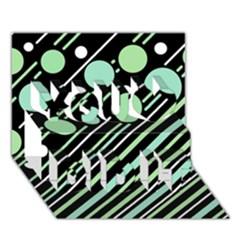 Green Transformaton You Did It 3d Greeting Card (7x5)