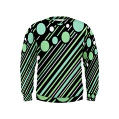 Green transformaton Kids  Sweatshirt