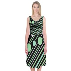 Green Transformaton Midi Sleeveless Dress