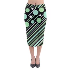 Green transformaton Midi Pencil Skirt