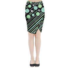 Green transformaton Midi Wrap Pencil Skirt
