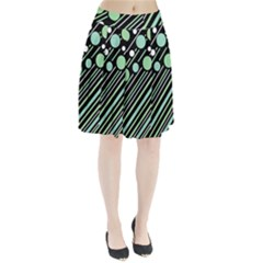 Green transformaton Pleated Skirt