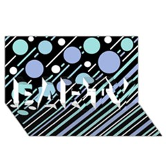 Blue transformation PARTY 3D Greeting Card (8x4)