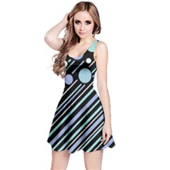 Blue transformation Reversible Sleeveless Dress