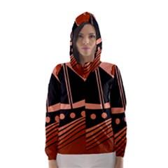 Boat - red Hooded Wind Breaker (Women)