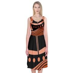 Boat - red Midi Sleeveless Dress