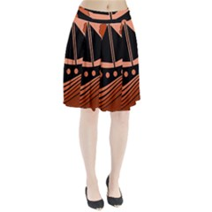 Boat - red Pleated Skirt