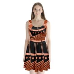 Boat - red Split Back Mini Dress