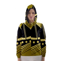 Boat   Yellow Hooded Wind Breaker (women)