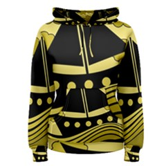 Boat - yellow Women s Pullover Hoodie