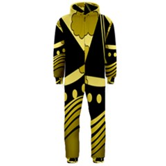 Boat - yellow Hooded Jumpsuit (Men)