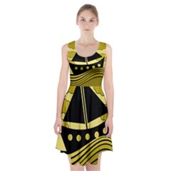 Boat - yellow Racerback Midi Dress