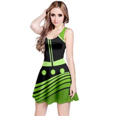 Boat - green Reversible Sleeveless Dress