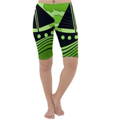 Boat - green Cropped Leggings