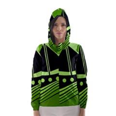 Boat   Green Hooded Wind Breaker (women)