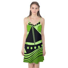 Boat - green Camis Nightgown