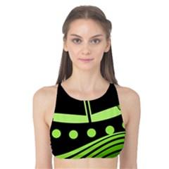 Boat - green Tank Bikini Top