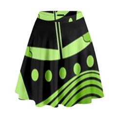 Boat - green High Waist Skirt