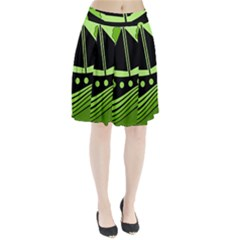 Boat - green Pleated Skirt