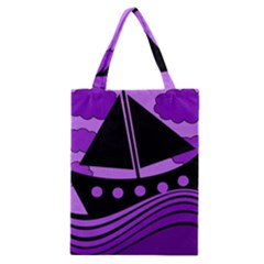 Boat - purple Classic Tote Bag
