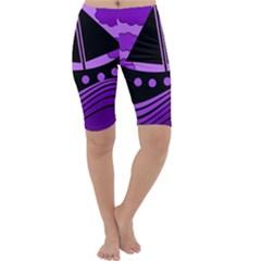 Boat - purple Cropped Leggings