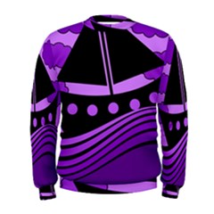 Boat - purple Men s Sweatshirt