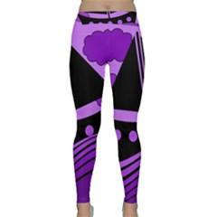 Boat - purple Yoga Leggings