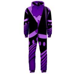 Boat - purple Hooded Jumpsuit (Men)