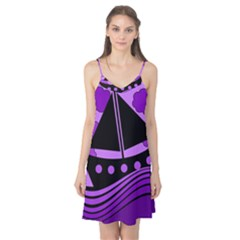 Boat - purple Camis Nightgown