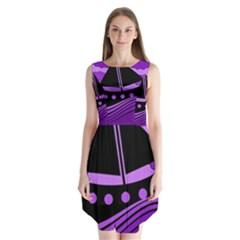 Boat - purple Sleeveless Chiffon Dress