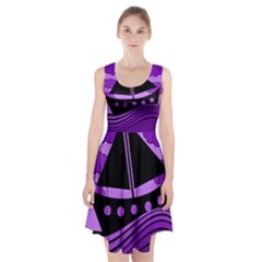 Boat   Purple Racerback Midi Dress
