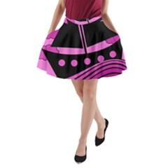 Boat - magenta A-Line Pocket Skirt