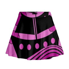 Boat - magenta Mini Flare Skirt