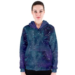 Constellations Women s Zipper Hoodie