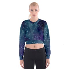 Constellations Women s Cropped Sweatshirt