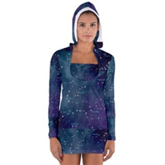Constellations Women s Long Sleeve Hooded T Shirt