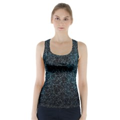 Polygonal And Triangles In Blue Colors  Racer Back Sports Top