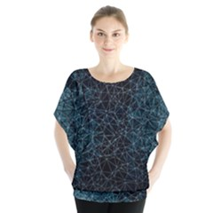 Polygonal And Triangles In Blue Colors  Blouse