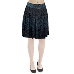 Polygonal And Triangles In Blue Colors  Pleated Skirt